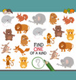 one of a kind activity for kids vector image vector image