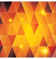 Orange triangle abstract pattern vector image