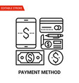 payment method icon thin line vector image