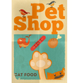 pet shop poster cat vector image