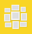 picture frame isolated yellow background vector image vector image