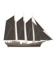 pirate ship flat icon isolated boat side view vector image