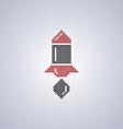 pixel rocket art vector image
