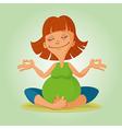 prenatal yoga vector image vector image