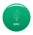 quince leaf icon green vector image