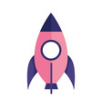 rocket startup spaceship toy isolated icon design vector image