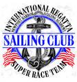 Sailing club logo with anchor