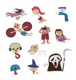 set of halloween characterghost from many culture vector image vector image