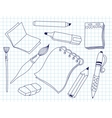 Set of office tools vector image vector image