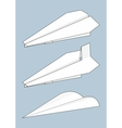 set of paper airplanes origami vector image vector image