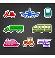 Set of sticky stickers transport color symbols vector image vector image