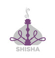 shisha violet equipment for relaxation isolated on vector image