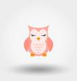 sleeping owl icon flat vector image vector image