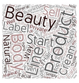Start Your Own Beauty Supply Business Wholesale vector image vector image