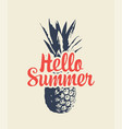 summer banner with a pineapple and inscription vector image vector image