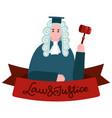 supreme court judiciary social media banner judge vector image