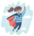 sweet baby girl in a super hero suit vector image vector image