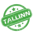 Tallinn green stamp vector image vector image