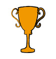 trophy award sport winner element vector image vector image