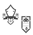 trophy star vector image