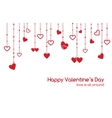 Valentines Day greeting card with heart garlands vector image vector image