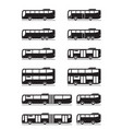 various public transport buses vector image vector image