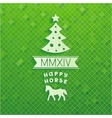 Volume Christmas tree with symbols of 2014 year vector image