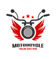 wing and motorbike logo vector image