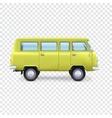 Minibus on transparent background vector image