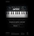 music grand piano poster vector image