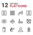 12 bathroom icons vector image vector image