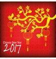 2017 Chinese Year of the Rooster poster vector image