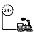 24 hour delivery symbol vector image vector image