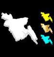 3d map of bangladesh vector image vector image