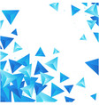 abstract blue crytal triangle white background vec vector image