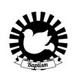 baptism invitation design vector image vector image