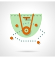 Basketball defense flat color design icon vector image