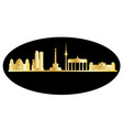berlin gold black skyline vector image vector image