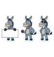 Blue Donkey Mascot happy vector image