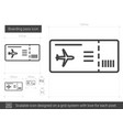 boarding pass line icon vector image vector image