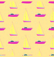 boats yachts on the sea on a cruise seamless vector image vector image
