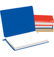 books and notebooks vector image