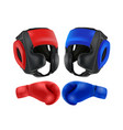 boxing blue and red gloves isolated on white vector image vector image