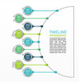 business data visualization process chart vector image