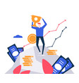 business success - colorful flat design style vector image