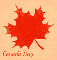 canada day beige background red maple leave vector image vector image
