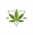 cannabis logo vector image vector image