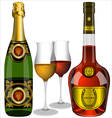 champagne and cognac vector image vector image