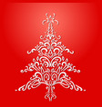 christmas element christmas tree red holiday card vector image