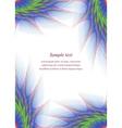 Color page corner fractal design template vector image vector image